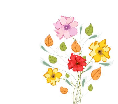 Aquarelle fleurs colorées