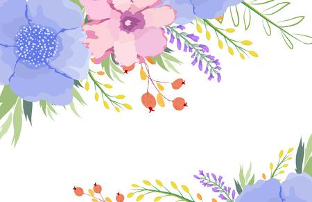 eywords background: watercolor floral background