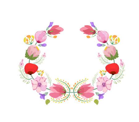 eywords background: Watercolor flowers frame