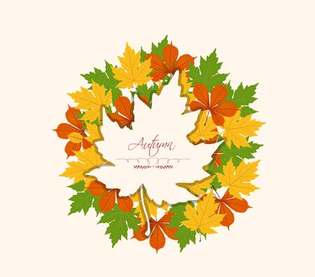 abstract floral: Autumn abstract floral background