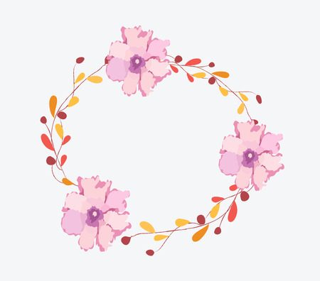 eywords background: Watercolor flowers frame template
