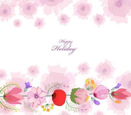 eywords background: Floral background. Floral card. Watercolor floral bouquet