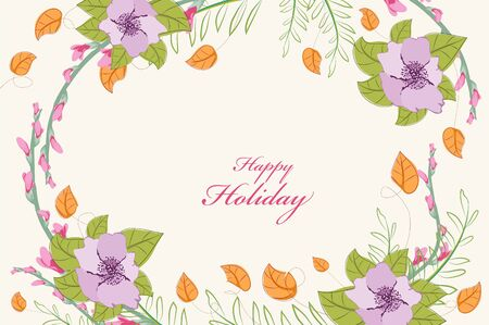 eywords background: Country floral background Flowers Illustration