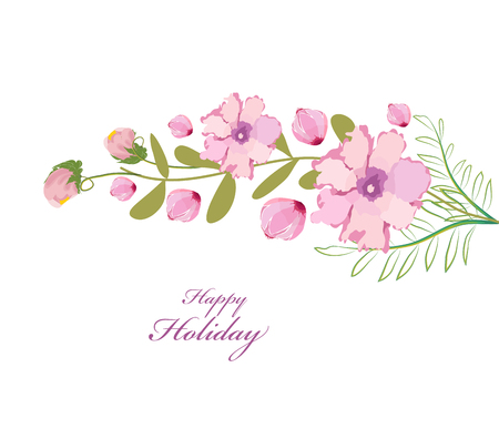 eywords background: Flower blossoming spring brunch with flowers on white background