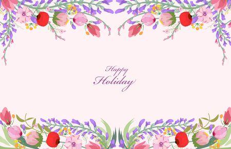 eywords background: Watercolor flower background Illustration