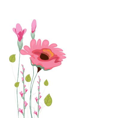 eywords background: Beautiful summer flowers watercolor