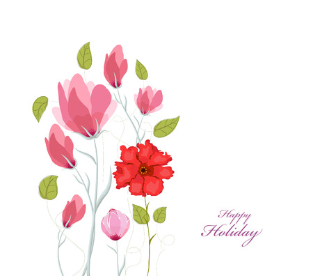 eywords background: Floral background. Floral card. watercolor Poppies