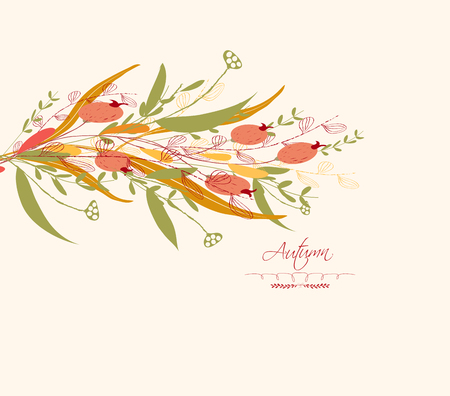 dinner date: Background of autumn leaves greeting cards