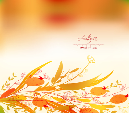 dinner date: Background of autumn leaves