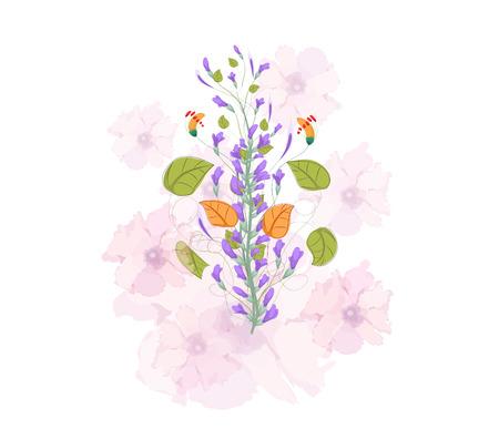 field of flowers: Field flowers watercolor Illustration
