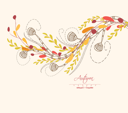 Background of autumn leaves greeting cards