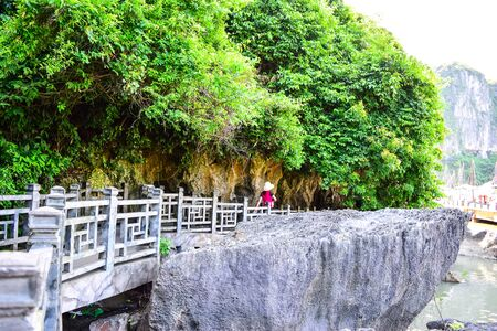 long bay: Thien Cung Cave in Ha Long Bay, Vietnam Stock Photo