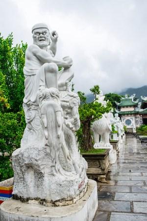 religious clothing: The buddha statue of Goddess of Mercy - Linh Ung Pagoda Quan Am print, Da Nang, Vietnam