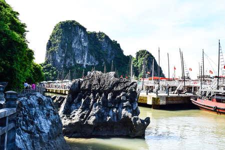 long bay: Bay near Thien Cung Cave. Ha Long Bay, Vietnam Editorial