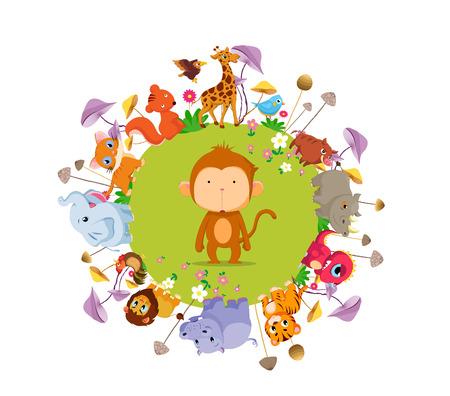 funny animal: animales divertidos en el fondo todo el suelo