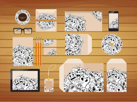 brand identity: Doodle style retro hipster brand identity