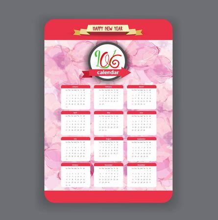 eywords background: Blossoms Calendar 2016 year design