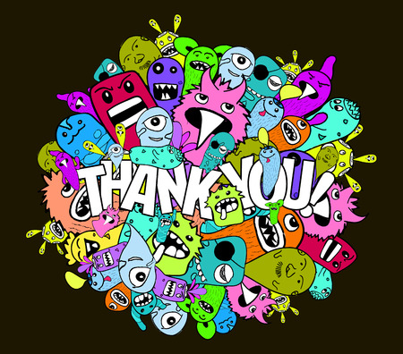 thank you very much: thank you hipster colorful background