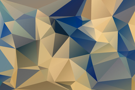 Colorful mosaic background polygonal heart Ilustrace