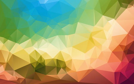 blake and white: Colorful mosaic background polygonal heart Illustration