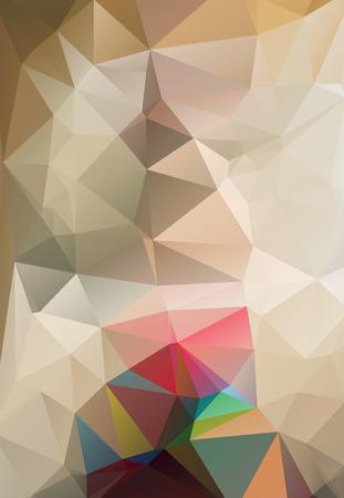 blake and white: Colorful mosaic background polygonal heart Illustration