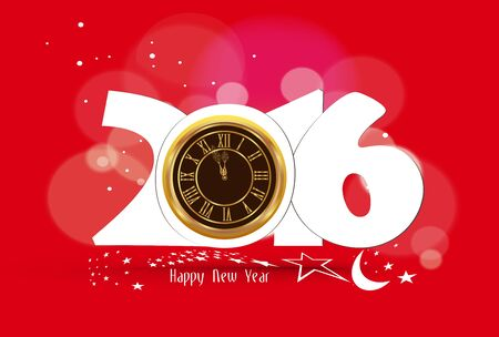 old clock: Happy New Year 2016 - Old clock