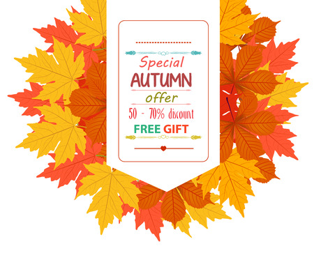fall trees: Banner with autumn leaves Sales