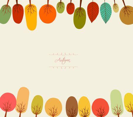 background herfst: Herfst achtergrond met bomen