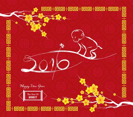 monos: dise�o del mono por A�o Nuevo chino celebraci�n