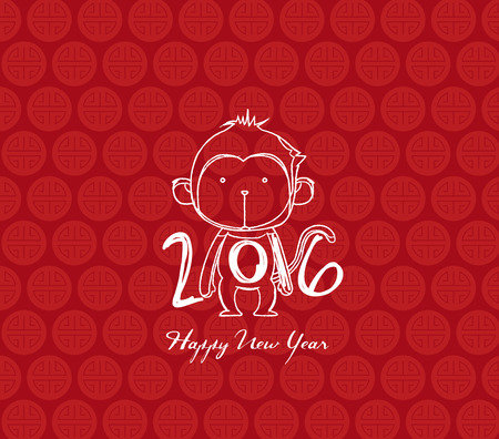 holiday celebrations: monkey design for Chinese New Year celebration