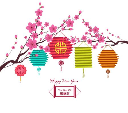 traditions: traditions of Chinese traditional background for new year with Lantern