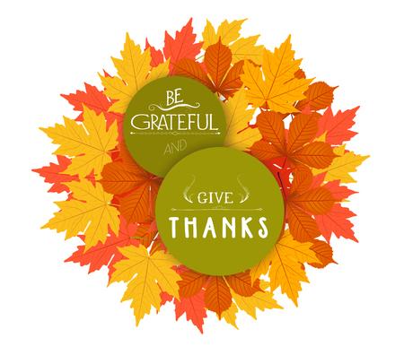Vrolijke Thanksgiving. Herfst ontwerp Stock Illustratie