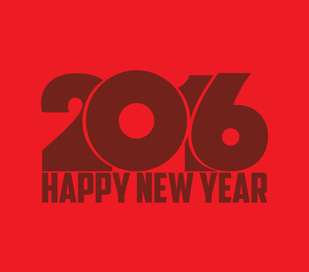 editable sign: Happy new year 2016 retro Illustration