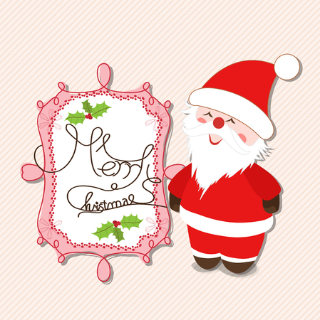 oldman: merry christmas with santa claus label