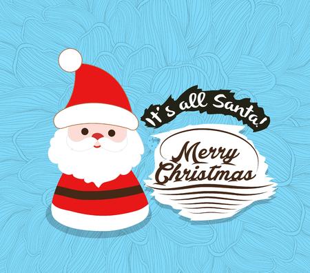 oldman: Merry Christmas with Santa Claus Illustrations Illustration
