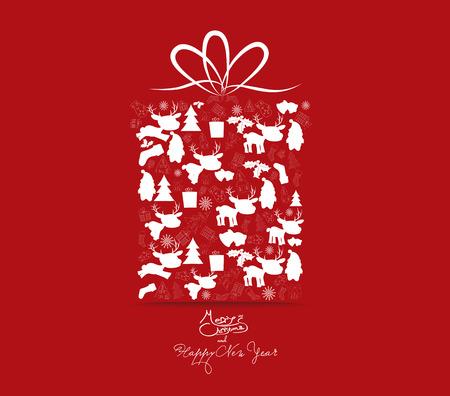 regalo navidad regalo de ao nuevo navidad y ornamento de la navidad con el icono