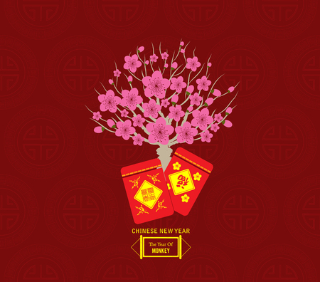 plum blossom: Chinese Lunar New Year with Japanese plum blossom