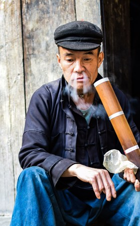ha giang: HA GIANG, VIETNAM - November 08,2015: Hmong man. Dong van, Vietnam.