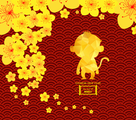 chinese new year template background stock vector 48220521