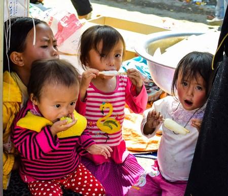 ha giang: Ha Giang, Vietnam, November 8, 2015 Hmong ethnic children, Ha Giang highland Vietnam. Editorial
