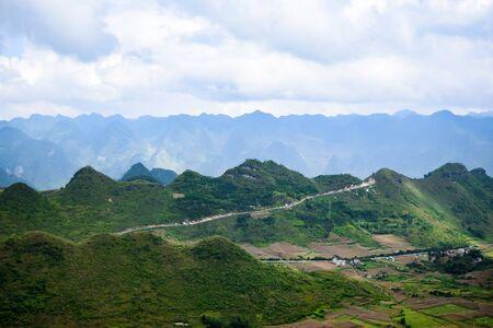 ba: View from Quan Ba Sky gate, Ha Giang province, Vietnam
