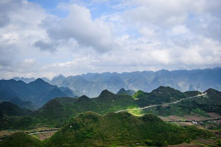 tay: View from Quan Ba Sky gate, Ha Giang province, Vietnam