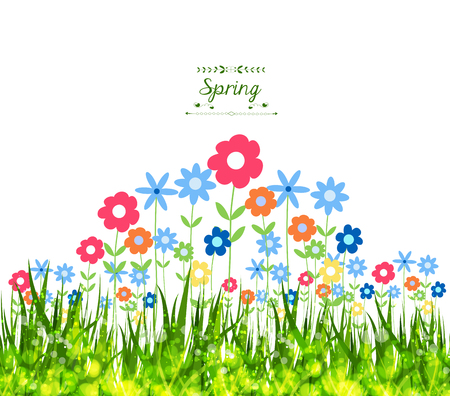uncultivated: Spring Background Illustration