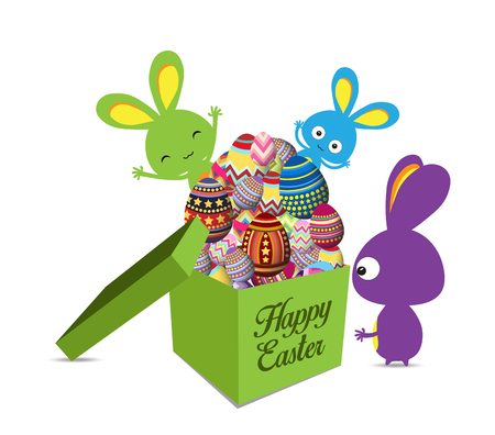 egg shaped: Easter Holiday Greeting Card with gift Set Egg shaped and bunny