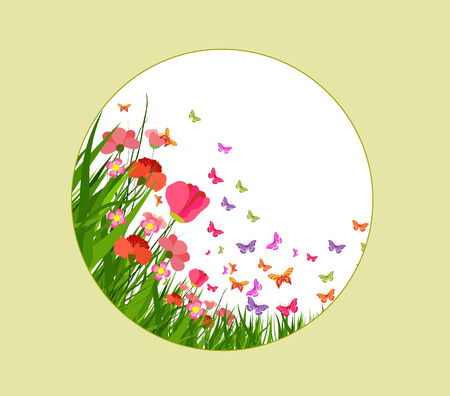 beautifu: illustration of floral hand drawn, flower colorful