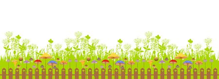 easter eggs: happy easter. Spring banner Illustration