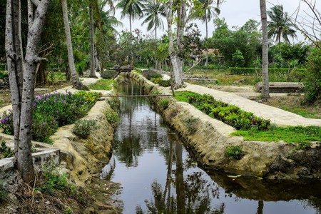civilians: Son My, Vietnam - March 23, 2016: The My Lai Massacre memorial site. The My Lai massacre was the Vietnam War mass killing of between 347 and 504 unarmed civilians in South Vietnam on March 16, 1968. Editorial