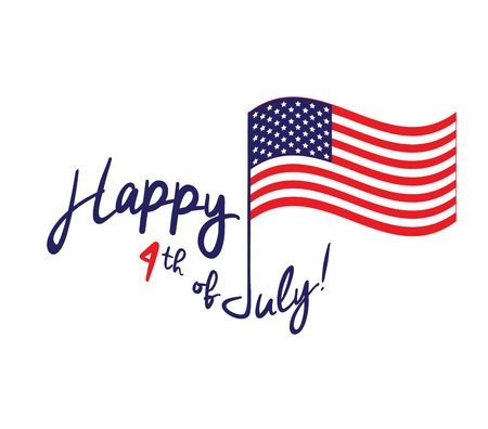 Happy Independence Day - July 4th - Fourth of July - American Flag