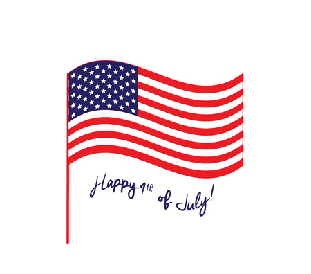 july 4th: Happy Independence Day - July 4th - Fourth of July - American Flag