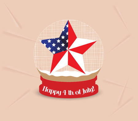 i want you: Happy 4th of July, USA Independence Day with four leaves of grass globe